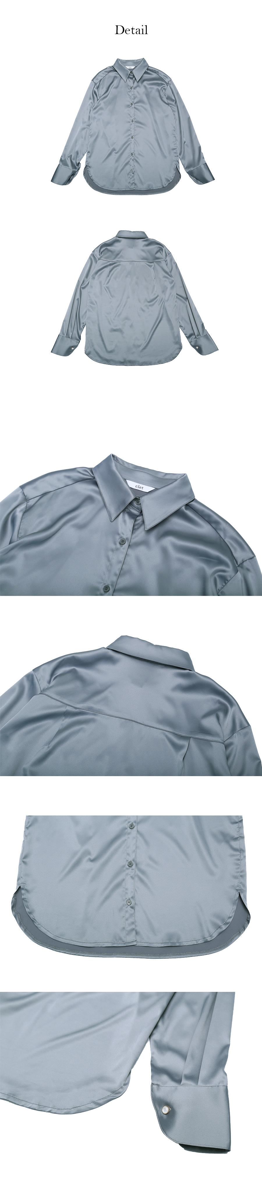 클렛(CLET) 스탠다드 셔츠 블라우스 (그린)