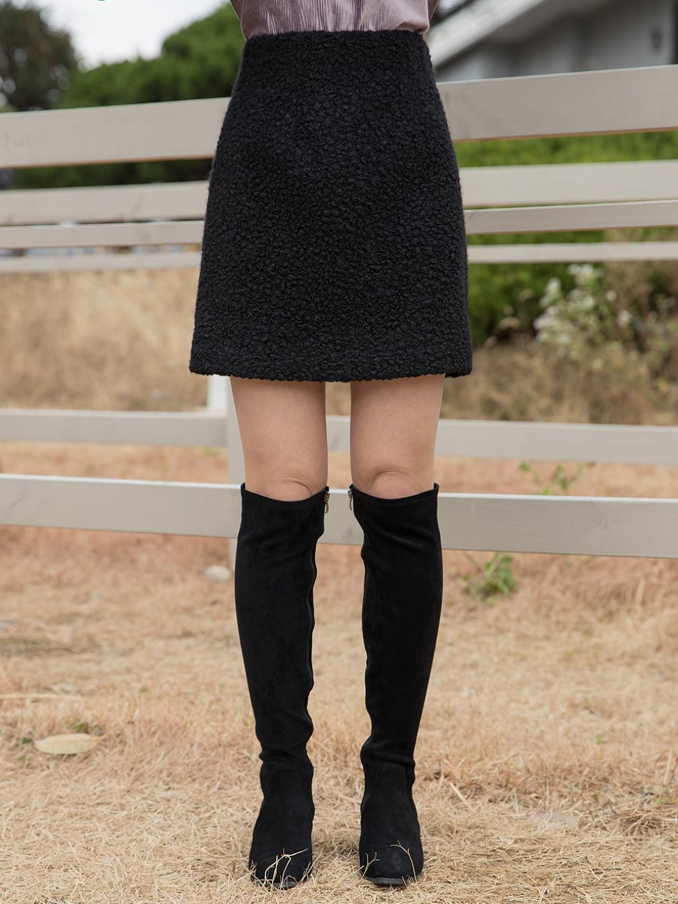 Boucle Band Skirt Black