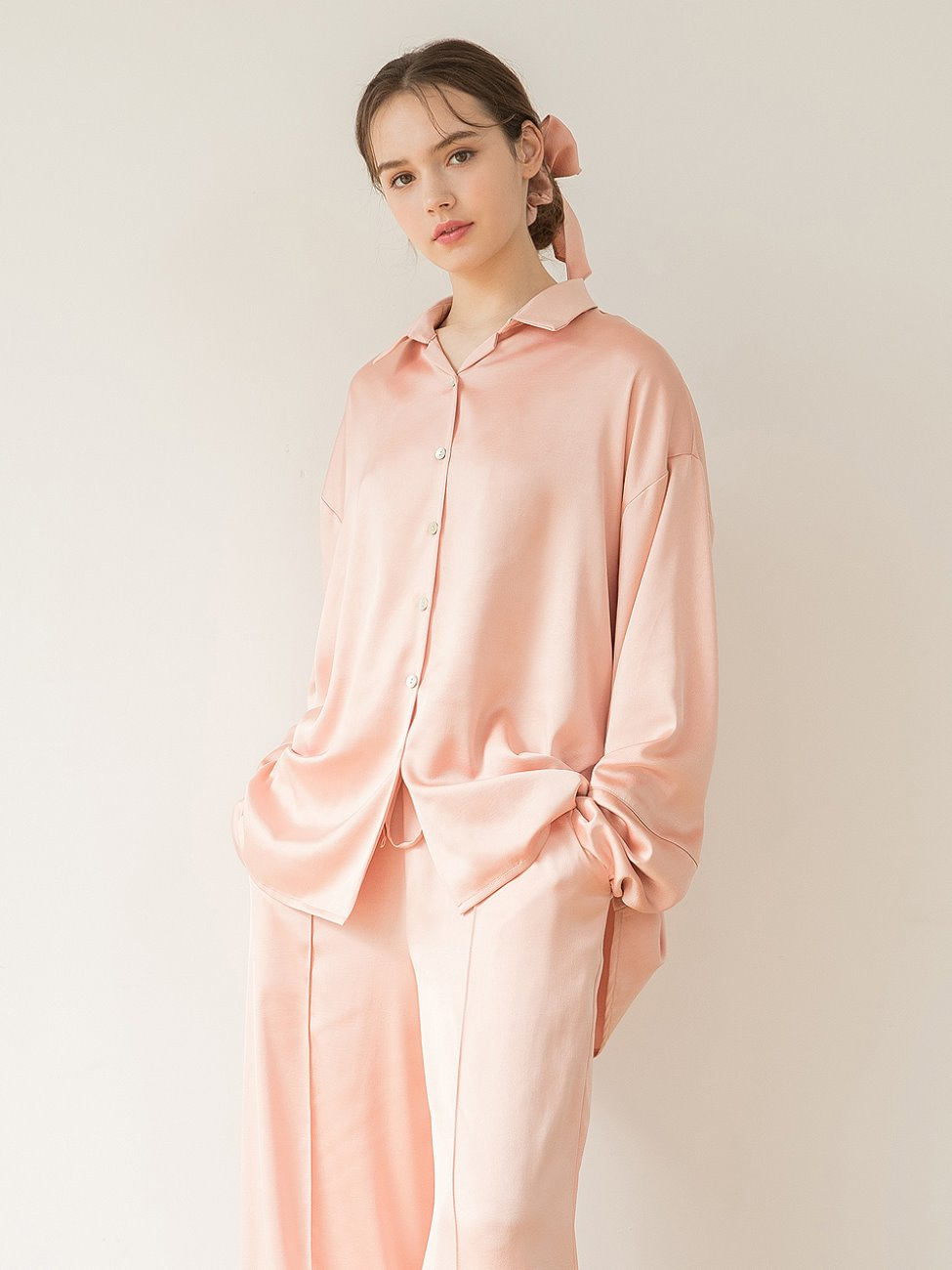 Satin Pajamas Peach